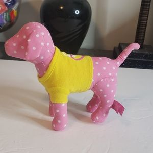 PINK Victoria's Secret Pink Polka Dot Peace Dog